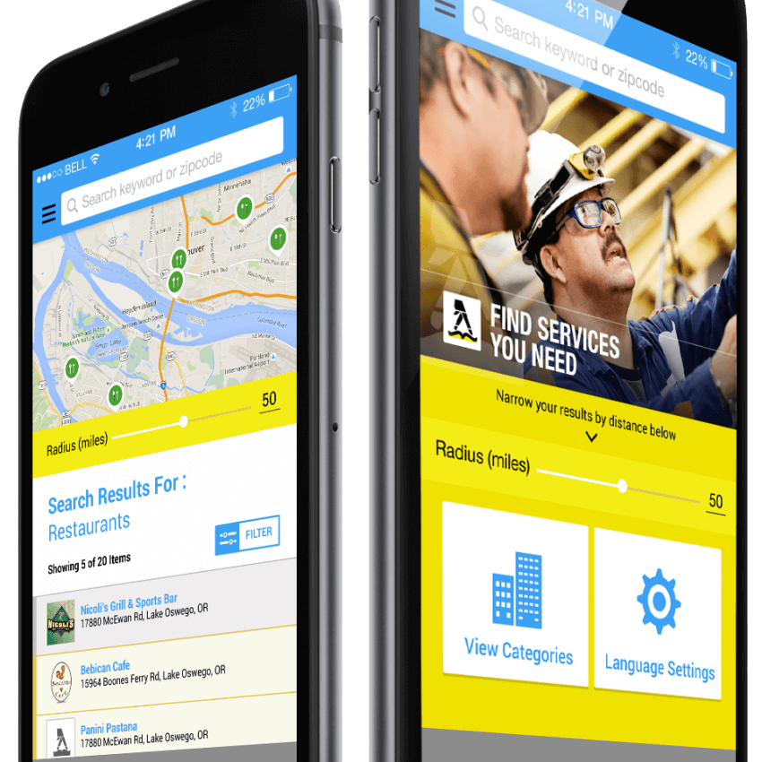 Spanish yellow pages iOS & Android App